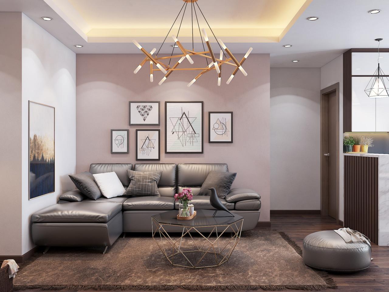 Không gian được bố trí hài hòa từ màu sắc đến cách lựa chọn đồ nội thất
