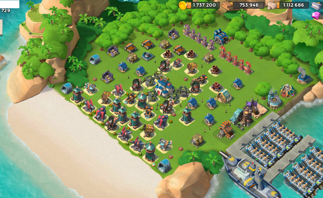 1058) Boom beach level 65, Name change : Available, Power powders 1347