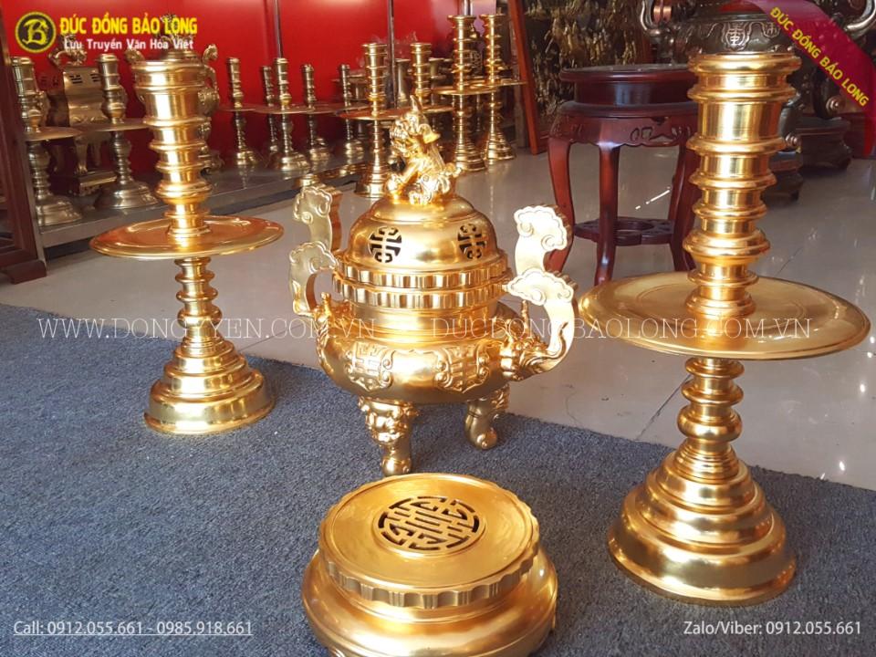 bộ dồ thờ tam sự dát vàng