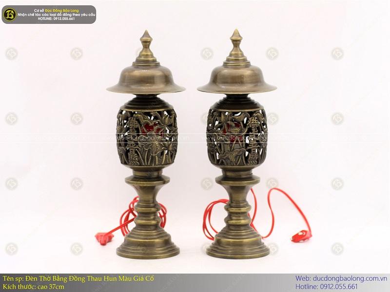 đèn thờ bằng đồng thau