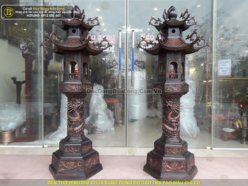 đèn thờ bằng đồng cỡ lớn