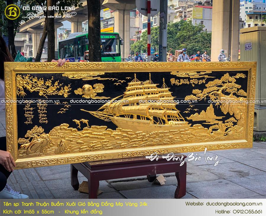 tranh mạ vàng 24k dát vàng 9999