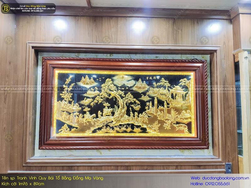tranh mạ vàng 24k bằng đồng cho phòng làm việc
