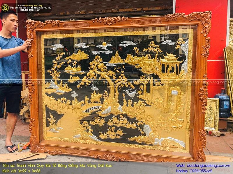 tranh đồng mạ vàng 24k