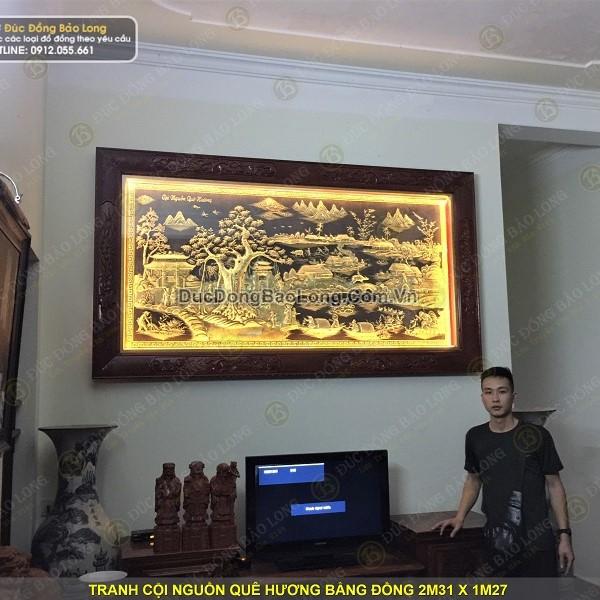 Lắp tranh cội nguồn quê hương 2m31 cho khách ở Vĩnh Bảo, Hải Phòng
