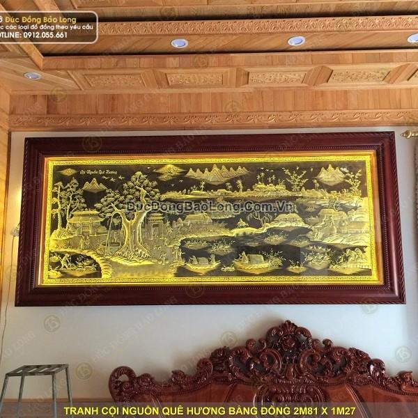 Lắp tranh cội nguồn quê hương 2m81 cho khách tại Hải Dương