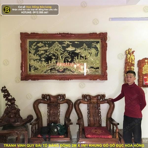 Lắp Đặt Tranh Vinh Quy Bái Tổ Bằng Đồng 2m x 1m1 tại Sóc Sơn
