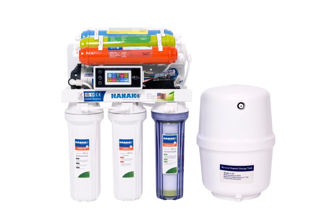 Máy lọc nước HANAKO thông minh 8 lõi lọc, tủ IQ (HANAKO HA08IQ)