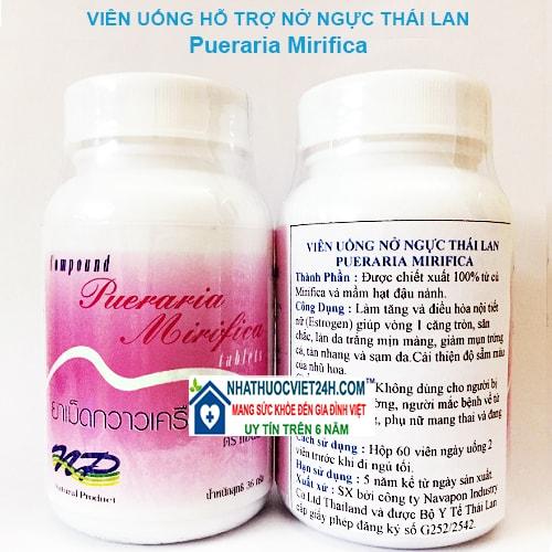 Thuốc nở ngực pueraria webtretho