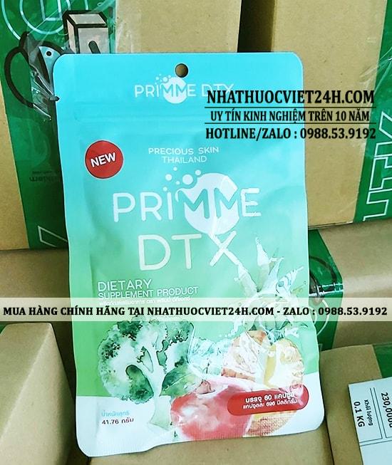 THUỐC GIẢM CÂN - DETOX TIÊU MỠ PRIMME DTX CHÍNH HÃNG