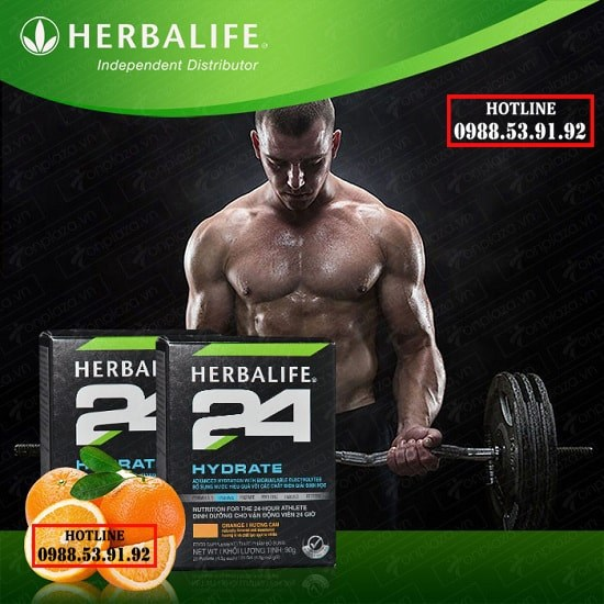 HERBALIFE 24 HYDRATE SỬ DỤNG TRONG TẬP LUYỆN