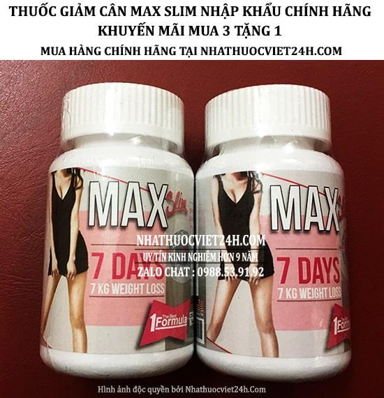 GIẢM CÂN MAX SLIM 7 D AYS CHÍNH HÃNG - MUA HÀNG TẠI TP HÀ NỘI