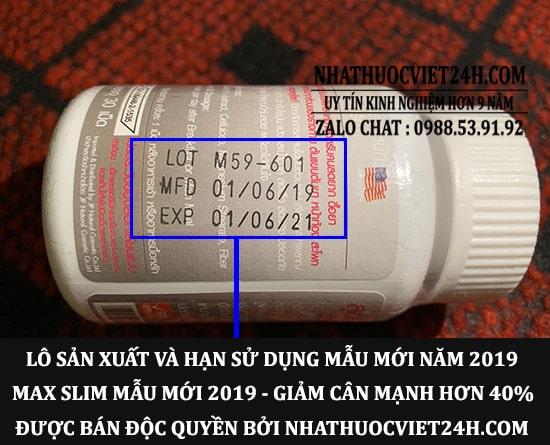 THUỐC GIẢM CÂN MAX SLIM CHÍNH HÃNG - ĐẶT HÀNG TẠI TP HCM