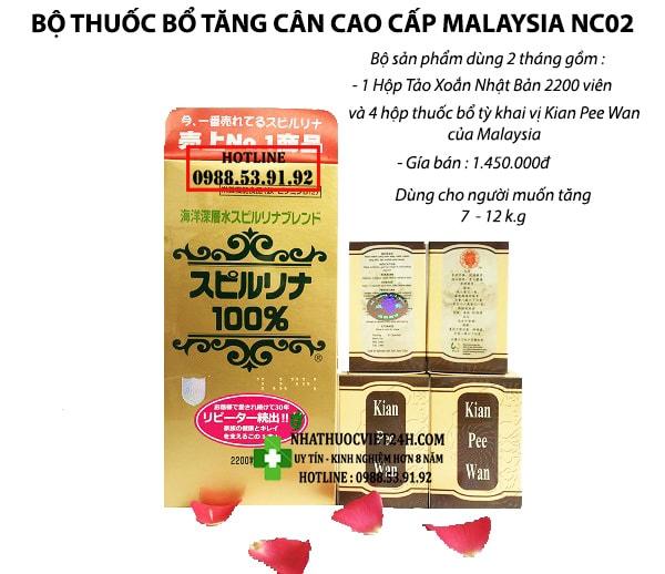 COMBO 2 THÁNG BỘ THUỐC BỔ TĂNG CÂN AN TOÀN NC02