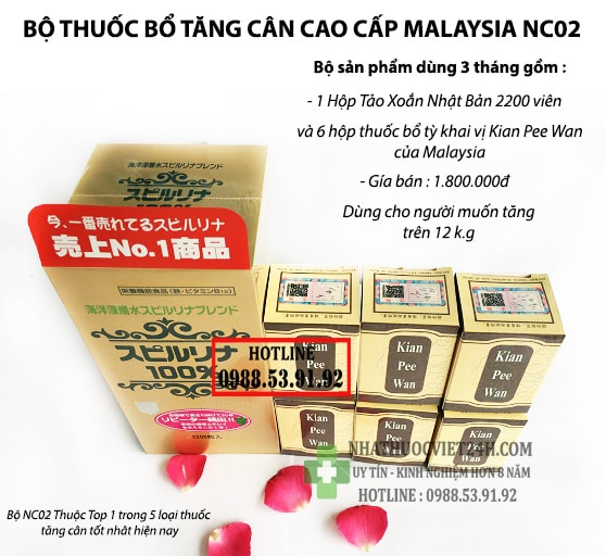COMBO 3 THÁNG BỘ THUỐC BỔ TĂNG CÂN AN TOÀN NC02