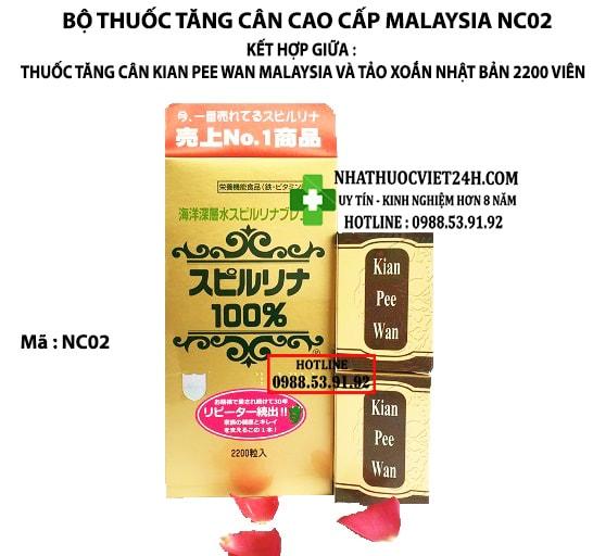 BỘ THUỐC TĂNG CÂN AN TOÀN NÂNG CAO NC02