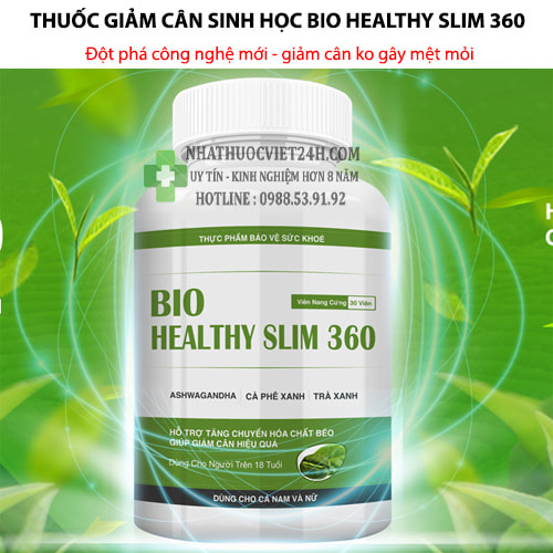 Thuốc Giảm Cân Sinh Học Bio Healty Slim 360