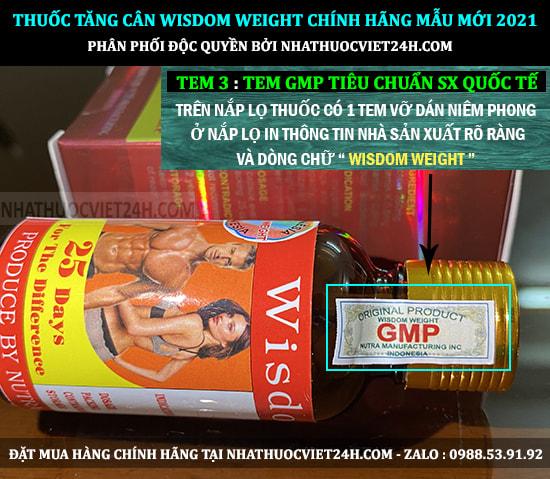 COMBO 3 HỘP THUỐC TĂNG CÂN WISDOM CHÍNH HÃNG