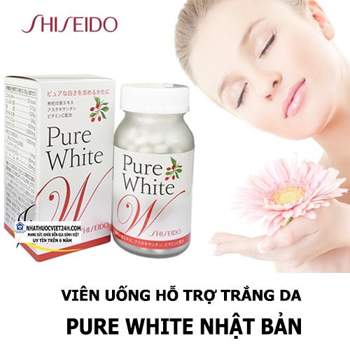 VIÊN UỐNG HỖ TRỢ TRẮNG DA SHISEIDO PURE WHITE
