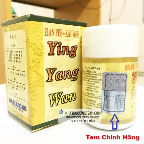 THUỐC TĂNG CÂN YING YANG WAN - DINH DƯỠNG HOÀN CHÍNH HÃNG