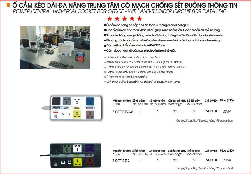 Ổ Cắm Kéo Dài Đa Năng LiOA 6 OFFICE-3