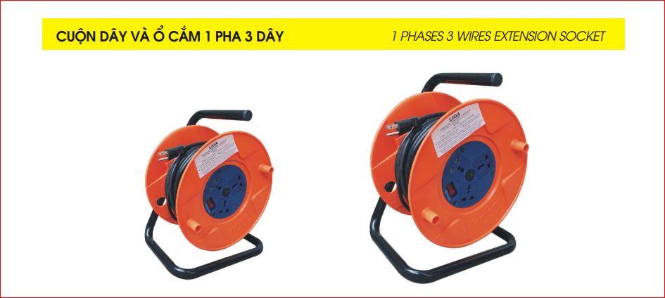 Cuộn dây và Ổ cắm 1 pha 3 dây QN1P25CU-15