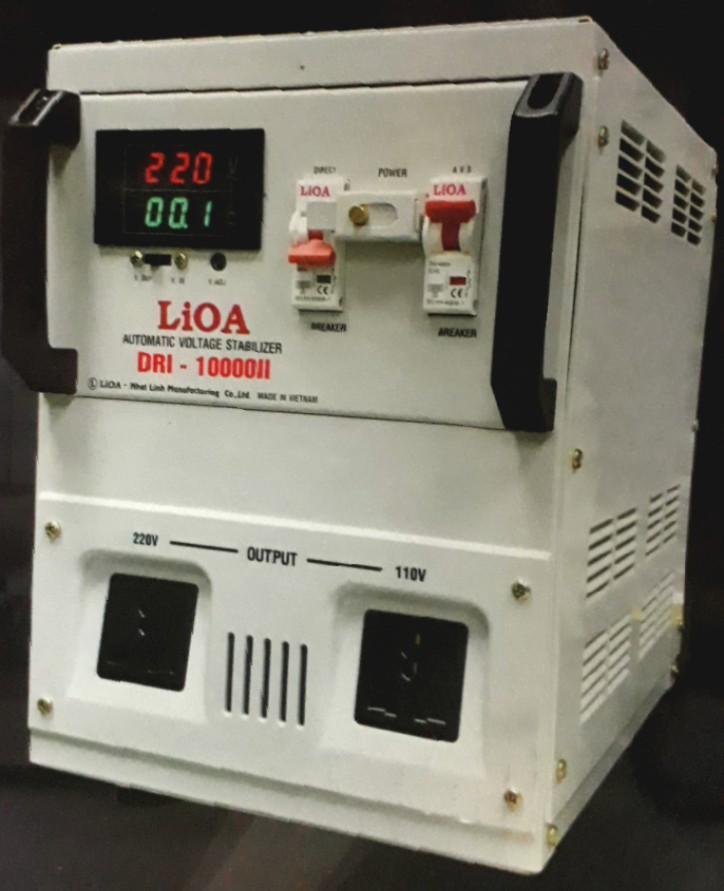 Ổn Áp LiOA 1 Pha DRI 10KVA NEW 2020 (90-250v) - Đồng hồ điện tử
