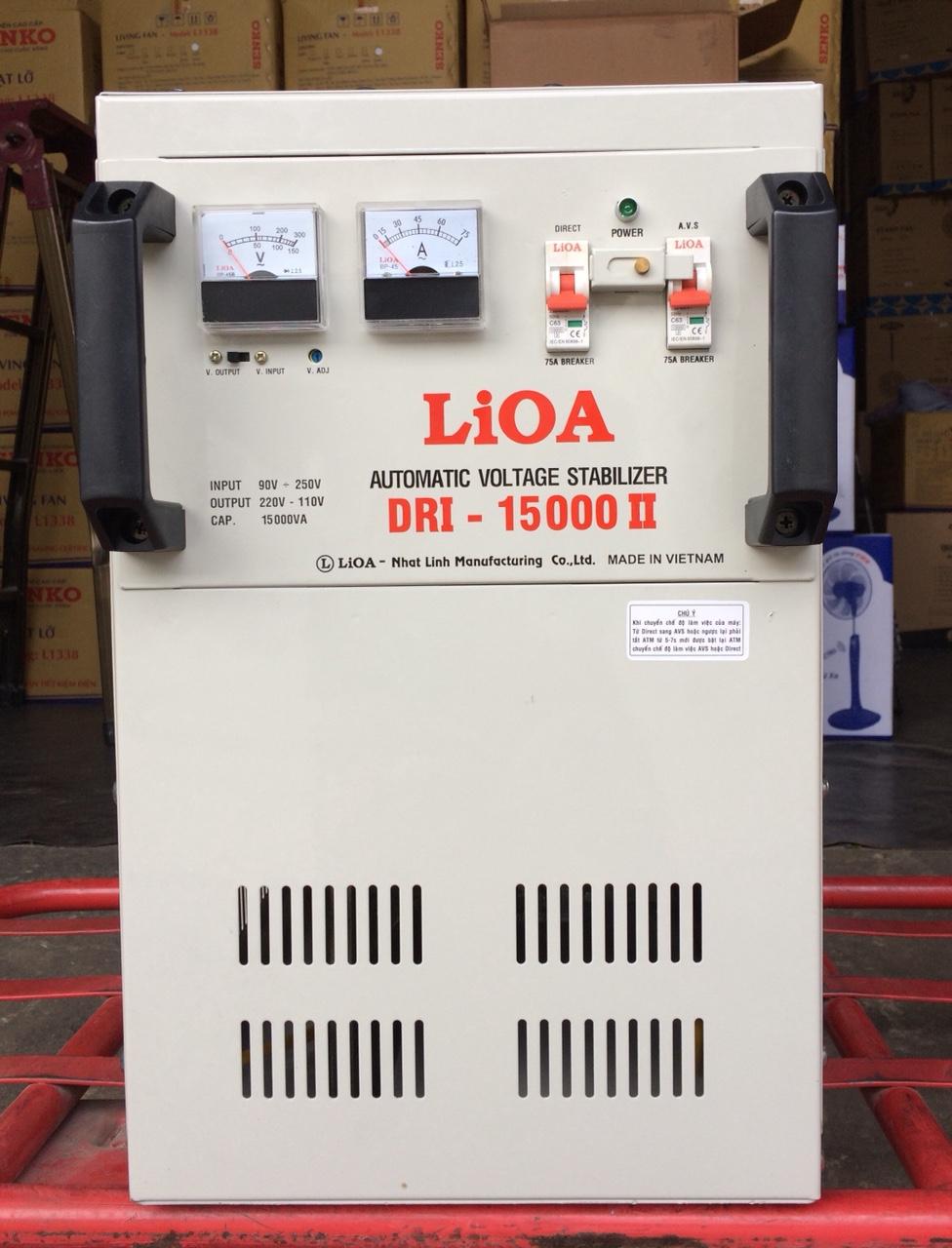 Ổn Áp LiOA 1 Pha DRI 15KVA NEW 2020 (90-250v) - Đồng hồ điện tử