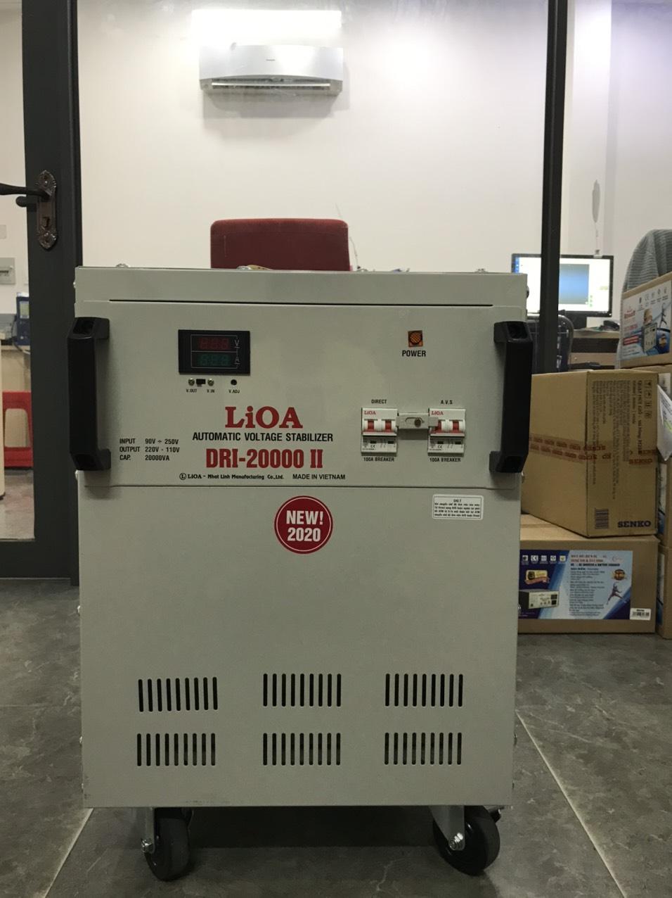 Ổn Áp LiOA 1 PHA DRI 20KVA NEW 2020 (90-250v) - Đồng hồ điện tử