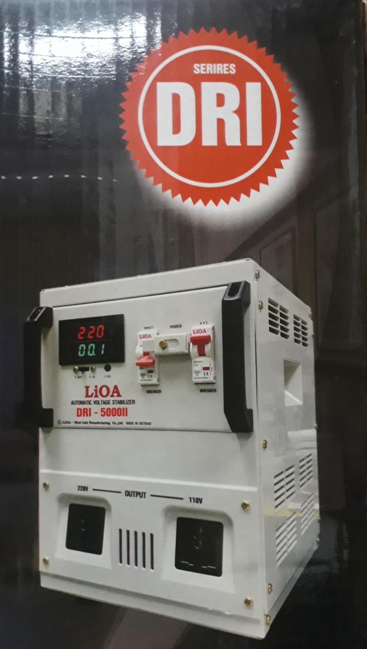Ổn Áp LiOA 1 Pha DRI 5KVA (90-250v) New 2020 - Đồng hồ điện tử