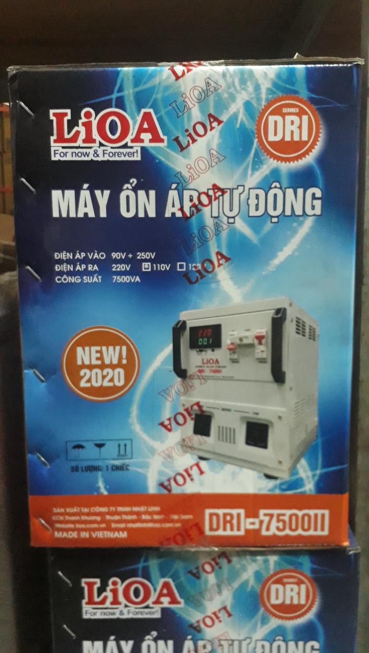 Ổn Áp LiOA 1 Pha DRI 7.5KVA (90-250v) NEW 2020 - Đồng hồ điện tử