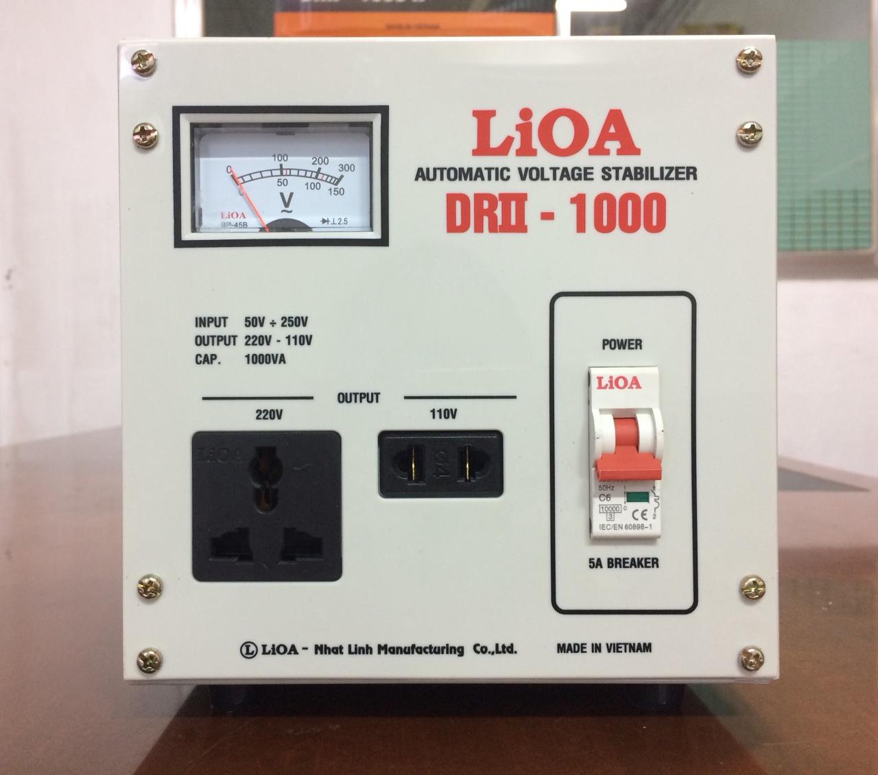 Ổn Áp LiOA 1 Pha DRII 1KVA (50-250v)