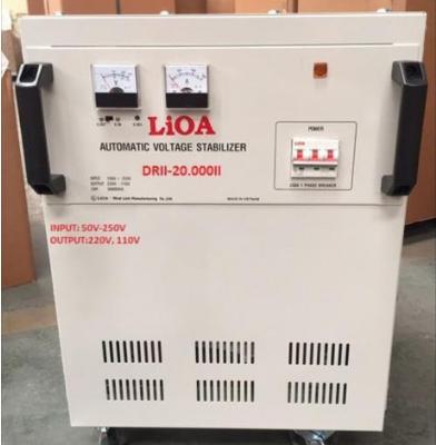 Ổn Áp LiOA 1 Pha DRII 20KVA NEW 2020 (50-250v) - Đồng hồ điện tử