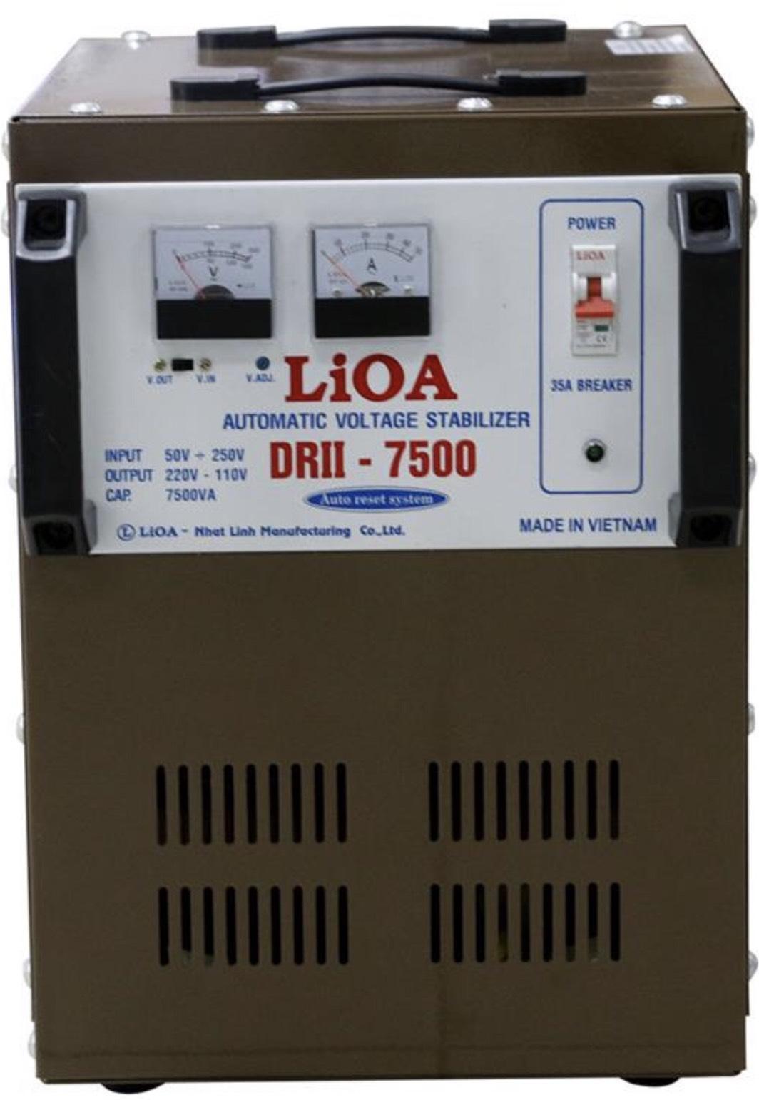 Ổn Áp LiOA 1 Pha DRII 7.5KVA (50-250v)