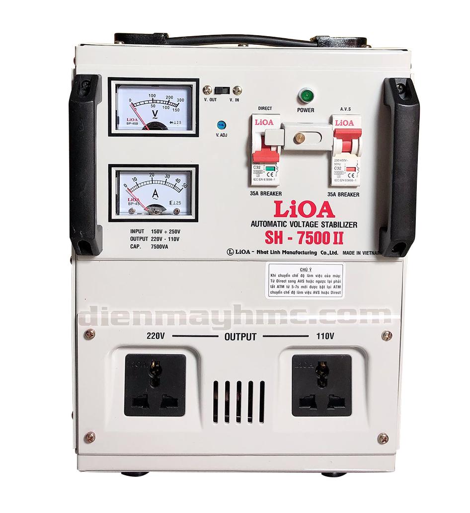 Ổn Áp LiOA 1 Pha SH 7.5kva (150-250v)