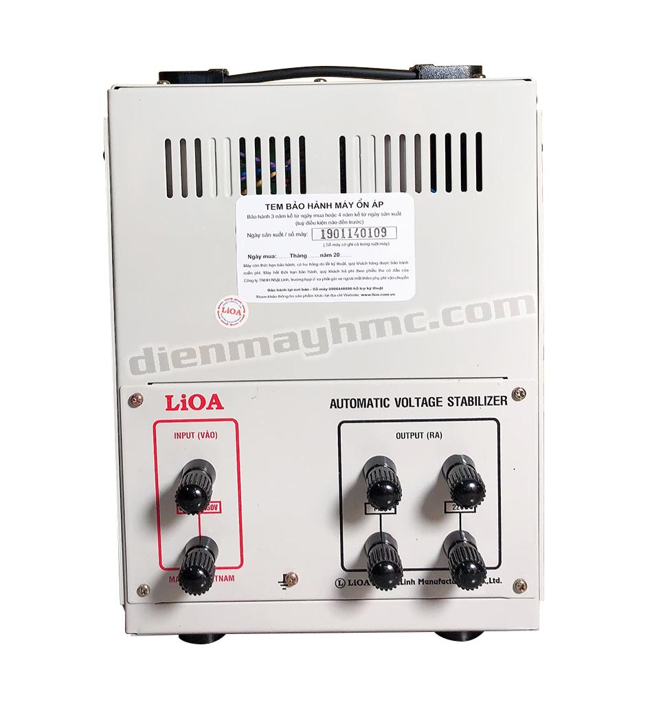 Ổn Áp LiOA 1 Pha SH 7.5kva (150-250v) New 2020 - Đồng hồ điện tử