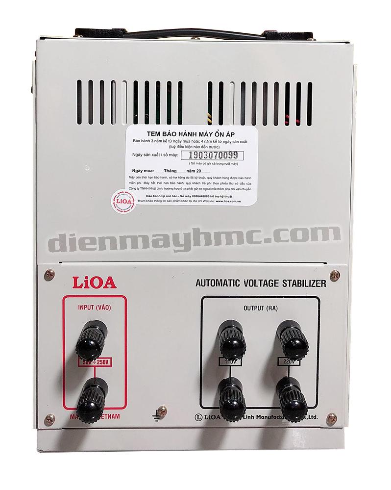 Ổn Áp LiOA 1 Pha DRII 5KVA NEW 2020 (50-250v) - Đồng Hồ điện tử