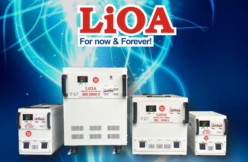 ỔN ÁP LIOA 1PHA SH 5KVA (150-250v) New 2020 - Đồng hồ điện tử