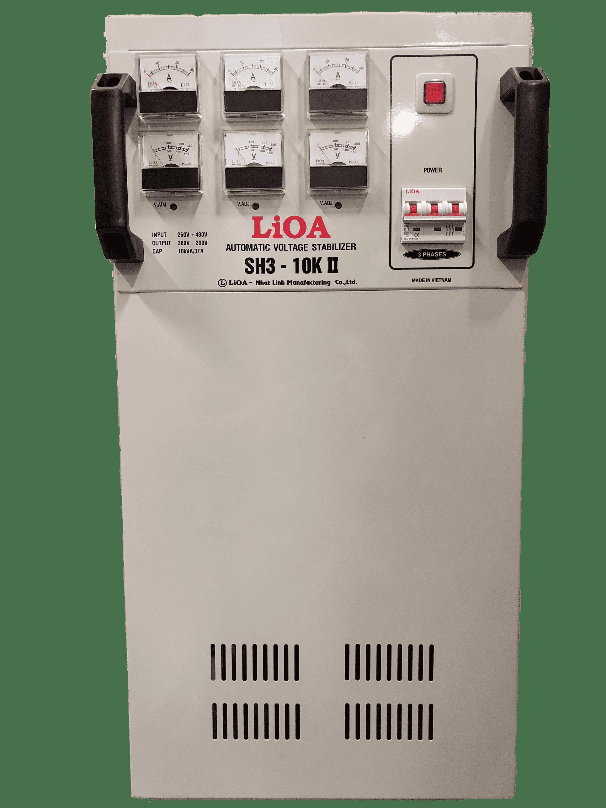 Ổn Áp LiOA 3 Pha SH3 10KII (260-430v)
