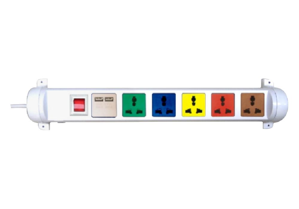 Ổ Cắm Kéo Dài Đa Năng Xoay Có Cổng Sạc USB LiOA 6D32WN2XUSB