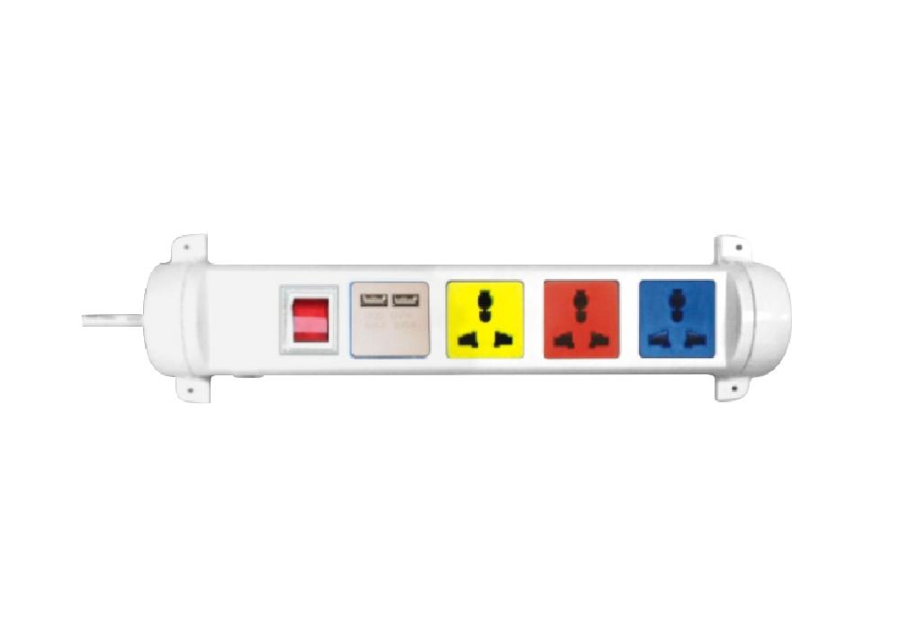Ổ Cắm Kéo Dài Đa Năng Xoay Có Cổng Sạc USB LiOA 4D32WN2XUSB