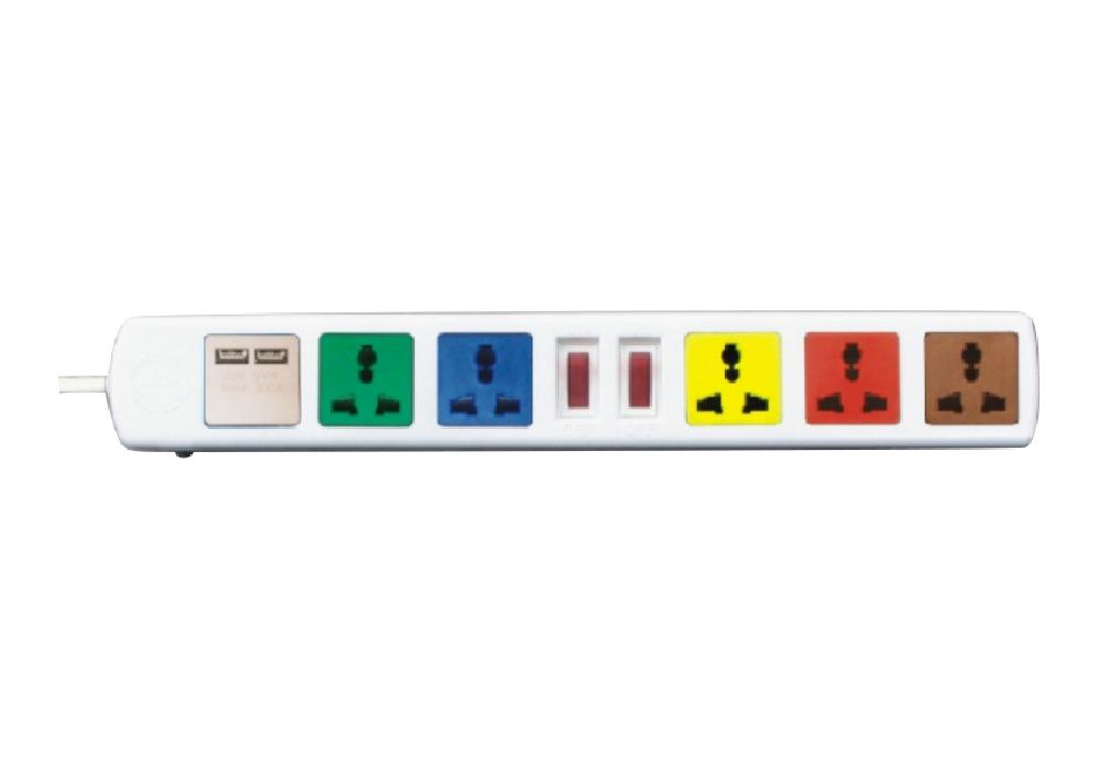 Ổ Cắm Kéo Dài Đa Năng Có Cổng Sạc USB LiOA 6D32WNUSB