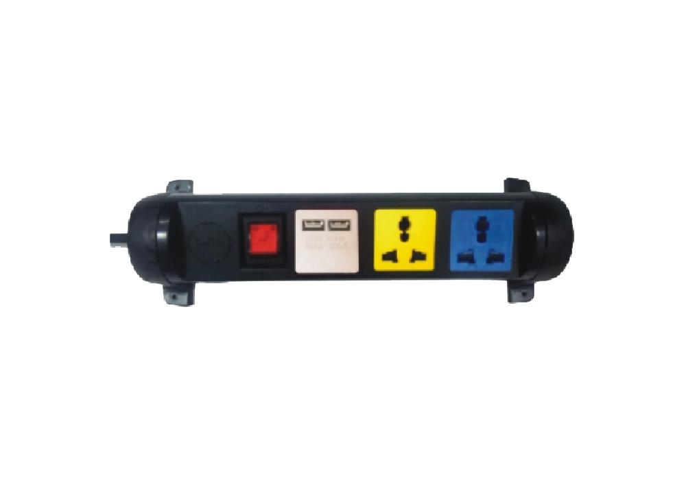 Ổ Cắm Kéo Dài Đa Năng Xoay Có Cổng Sạc USB LiOA 3D32N2XUSB