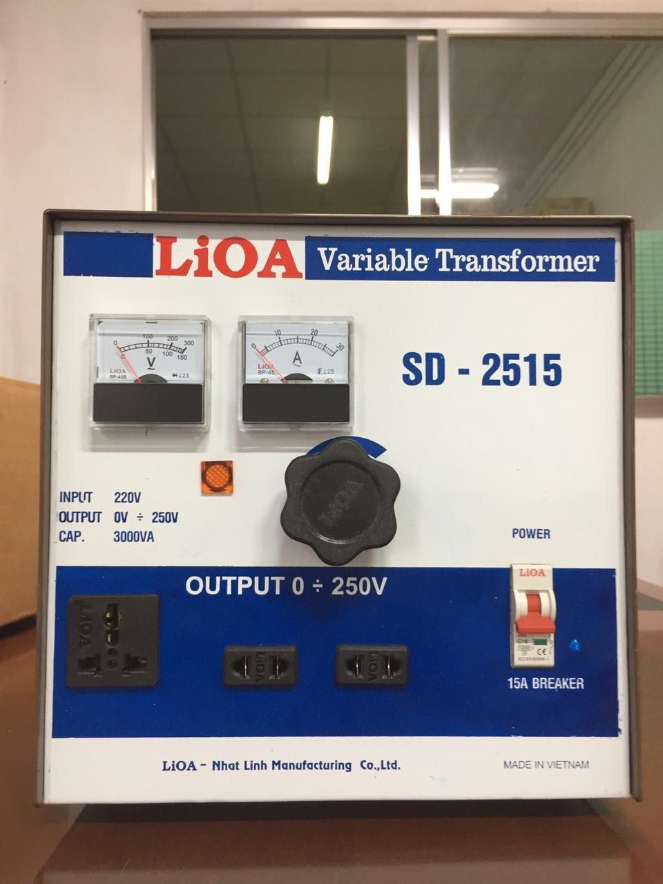 Biến Áp Vô Cấp LiOA SD 2515