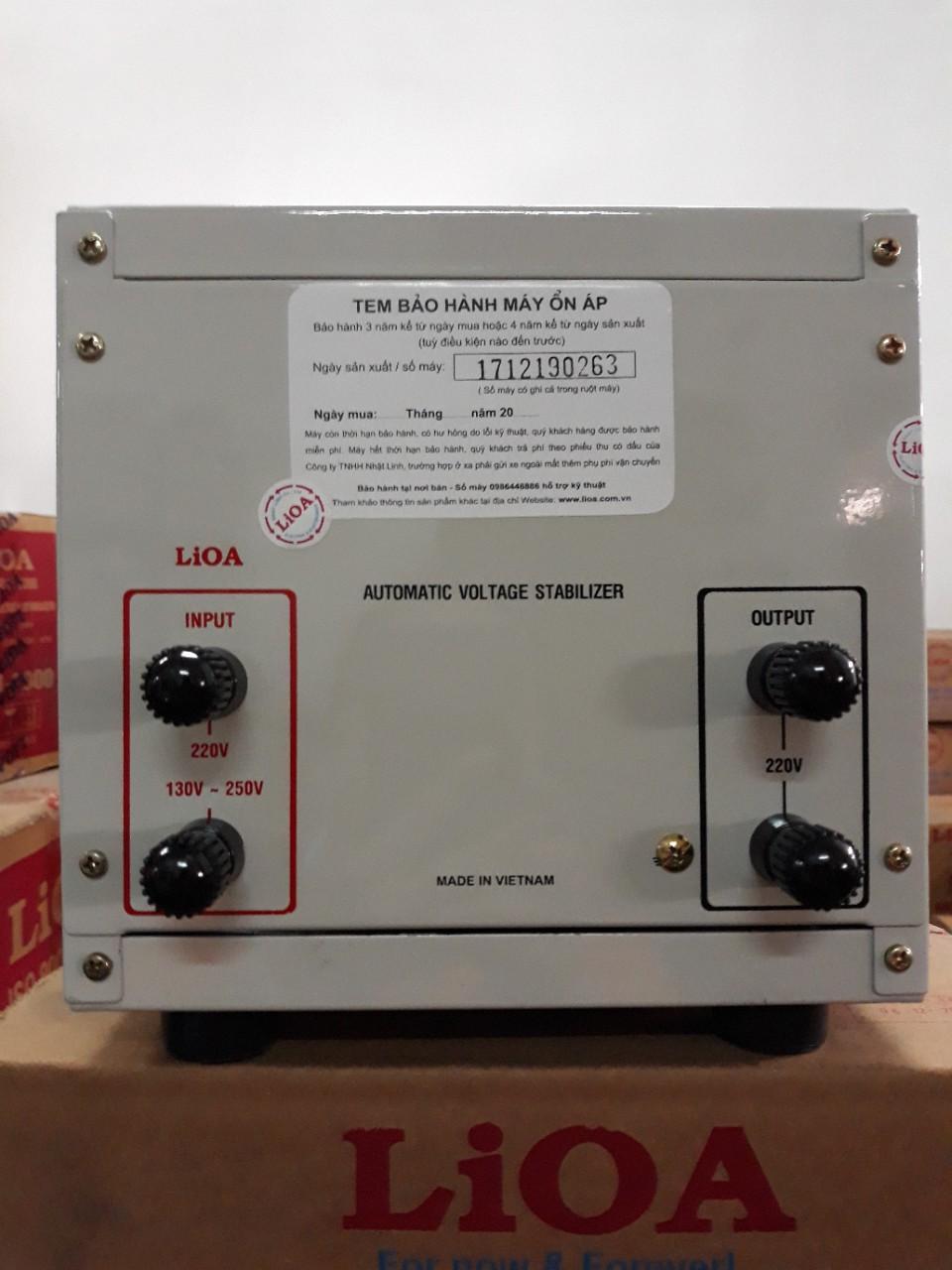 Ổn Áp LiOA 1 Pha SH 2Kva (150-250v)