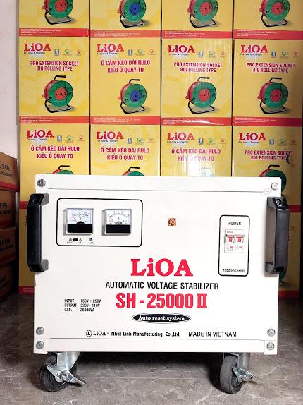 Ổn Áp LiOA 1 Pha SH 25Kva (150-250v) New 2020 - Đồng hồ điện tử