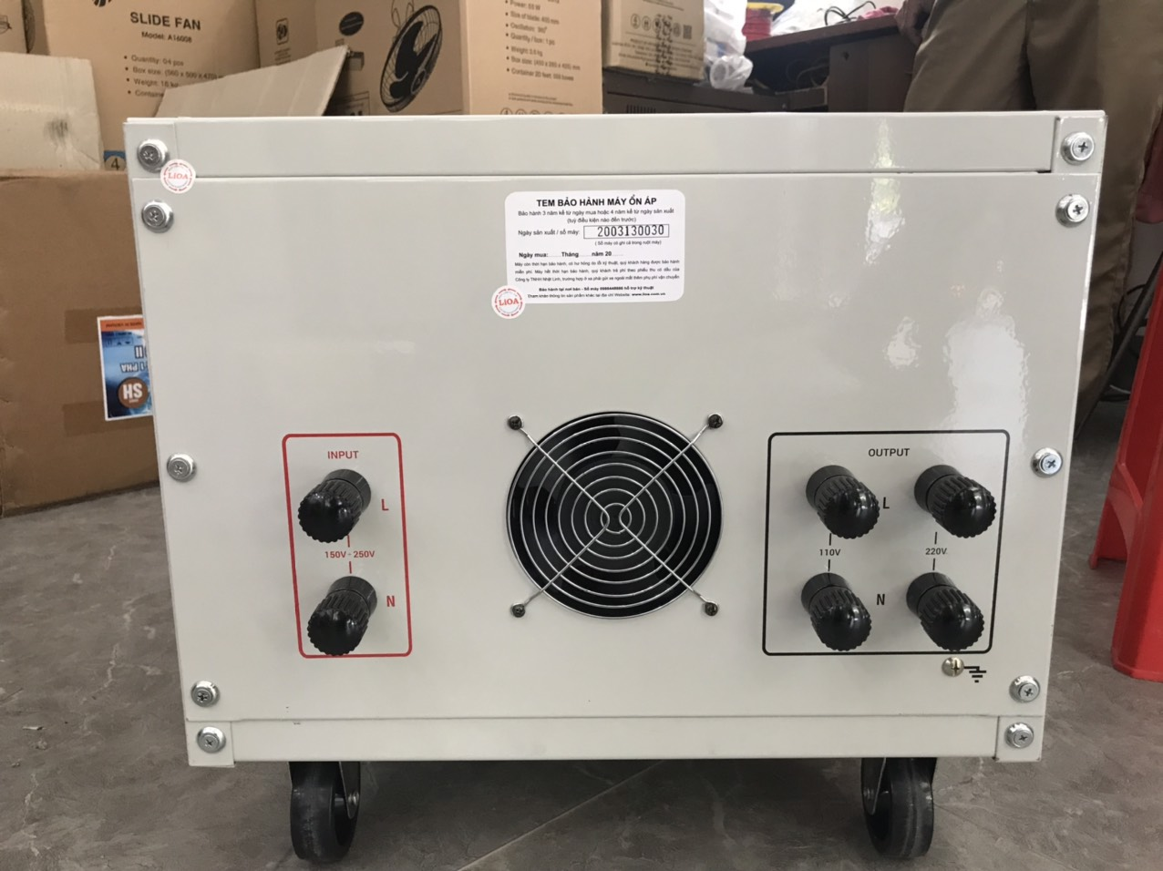 Ổn Áp LiOA 1 Pha SH 30KVA NEW 2020 (150-250v) - Đồng Hồ điện tử