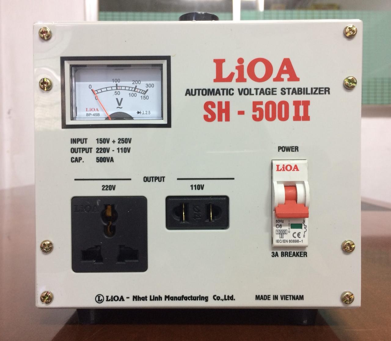 Ổn áp lioa 1 pha SH 0.5KVA (150-250v)