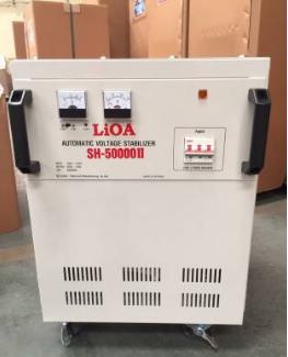 Ổn Áp LiOA 1 Pha SH 50KVA (150-250v) New 2020 - Đồng hồ điện tử