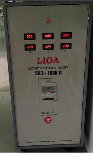 Ổn Áp LiOA 3 Pha SH3 100KII (260-430v)  New 2020 - đồng hồ điện tử